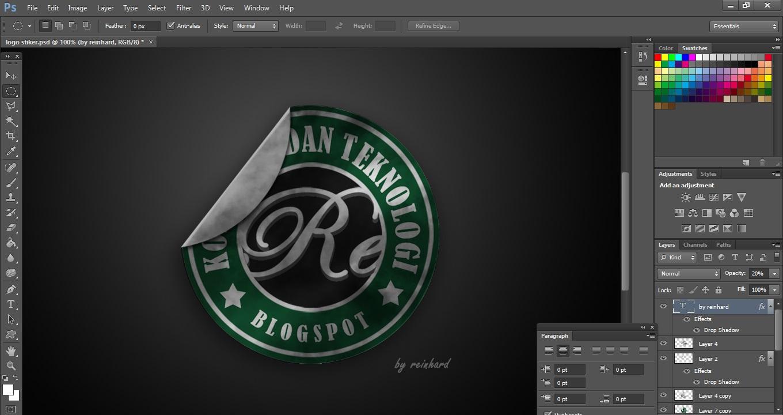Filexplorer Membuat Kreasi Logo Stiker Keren Menjadi Wallpaper Mengunakan Adobe