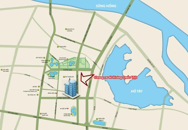Hạ tầng khu vực xung quanh dự án chung cư 60 Hoàng Quốc Việt.
