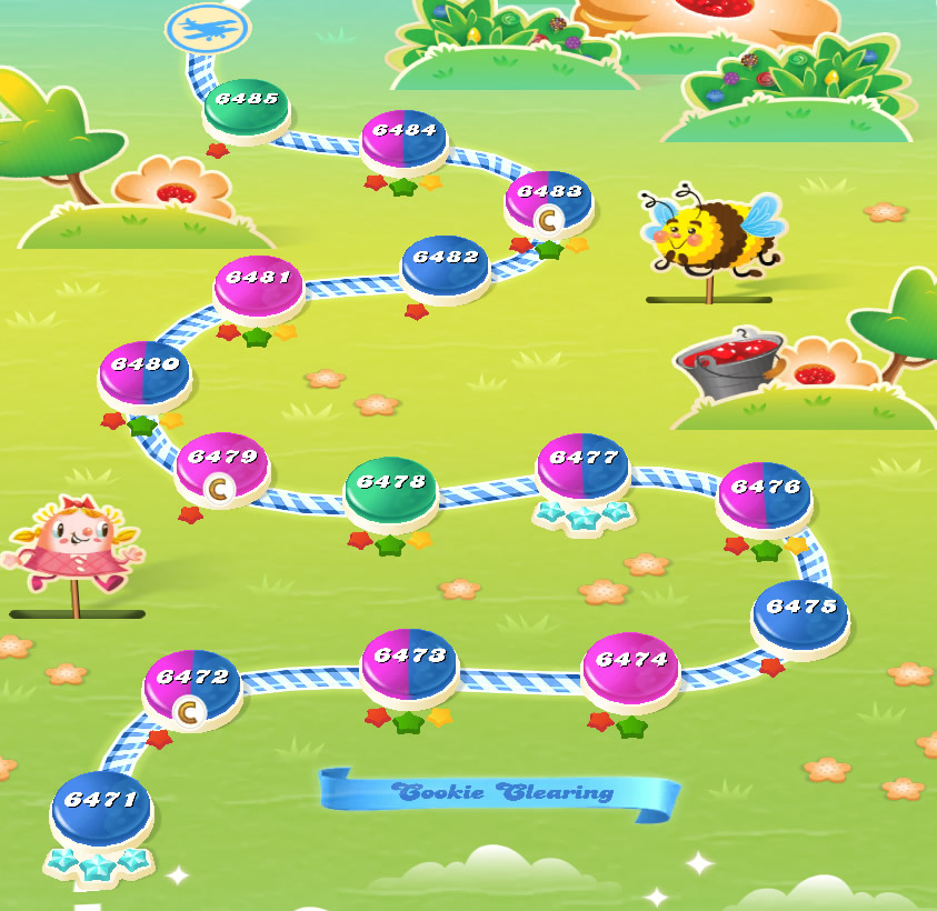 Candy Crush Saga level 6471-6485