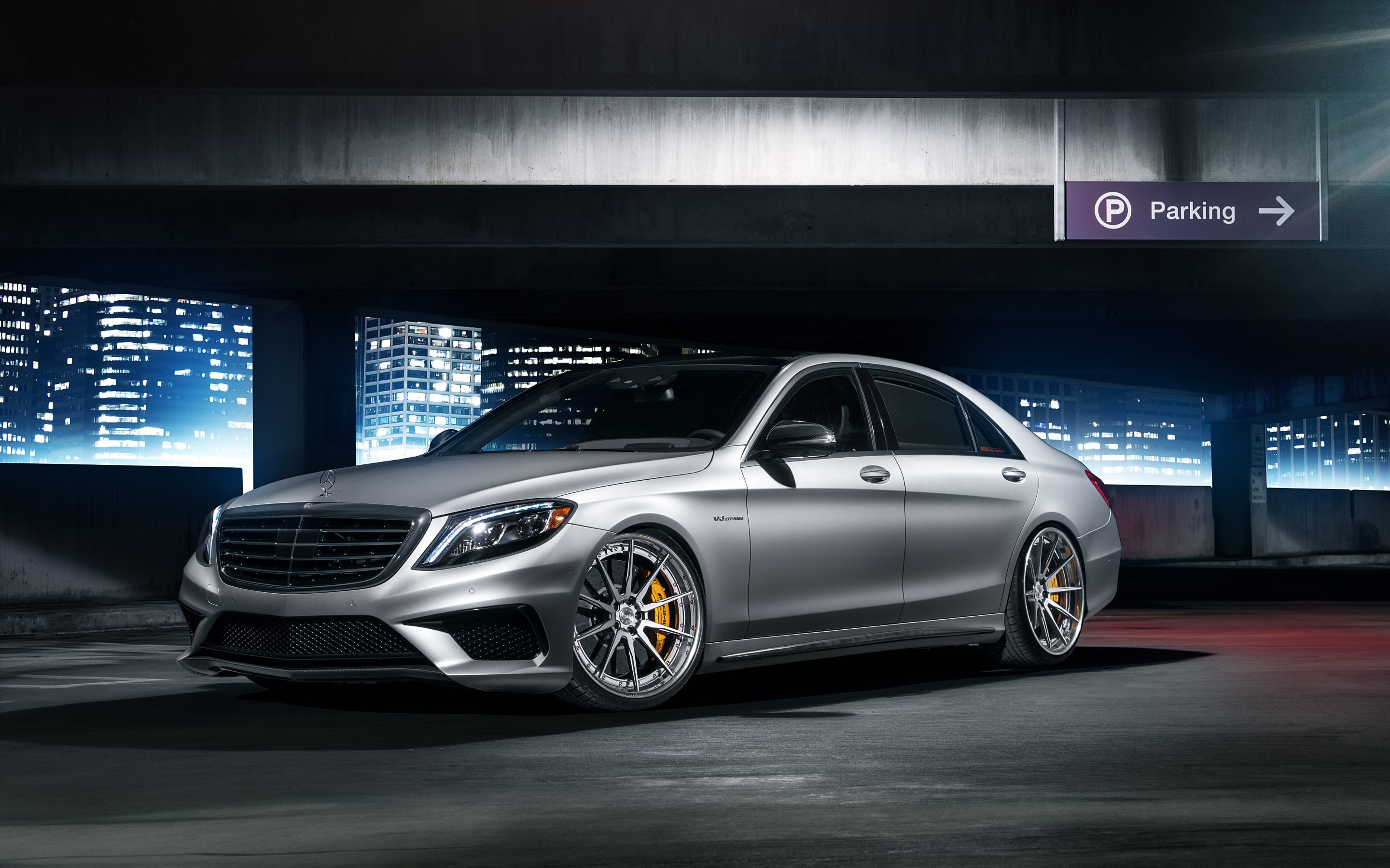 mercedes amg s63 with adv wheels hd wallpapers 4k