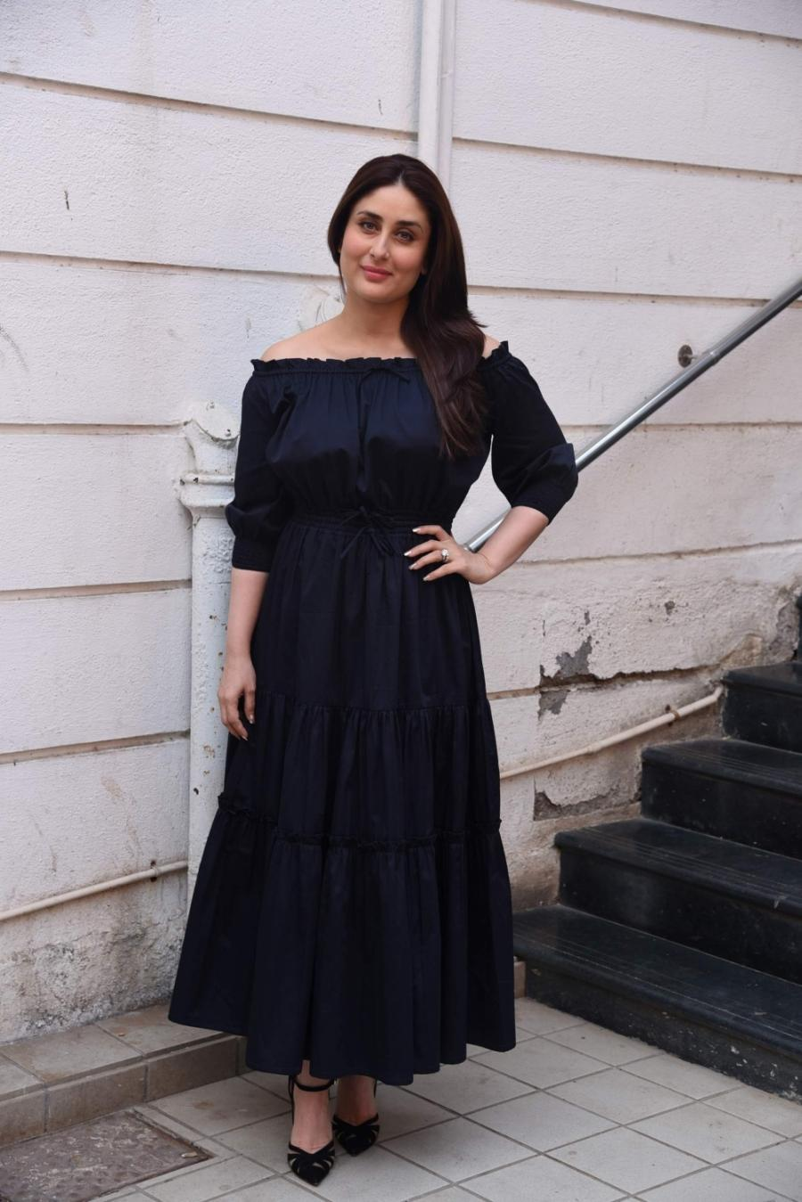 Kareena Kapoor Photoshoot In Long Hair Blue Dress