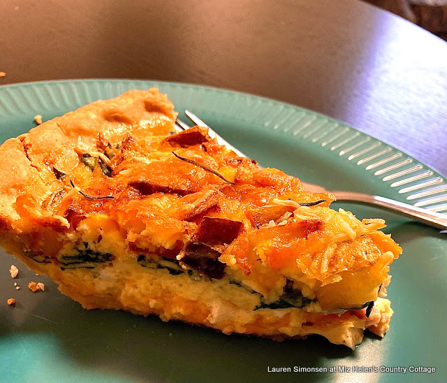 Ham Spinach and Potato Quiche