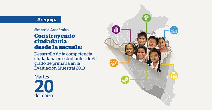 Convocan a Simposio «Construyendo Ciudadanía desde la Escuela» [Arequipa]