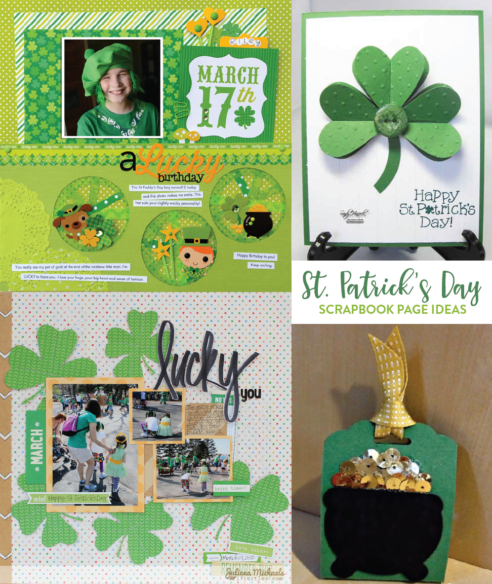 Scrapbook ideas rainbow - Here Are 12 Great St Patrick S Day Scrapbook Page Ideas