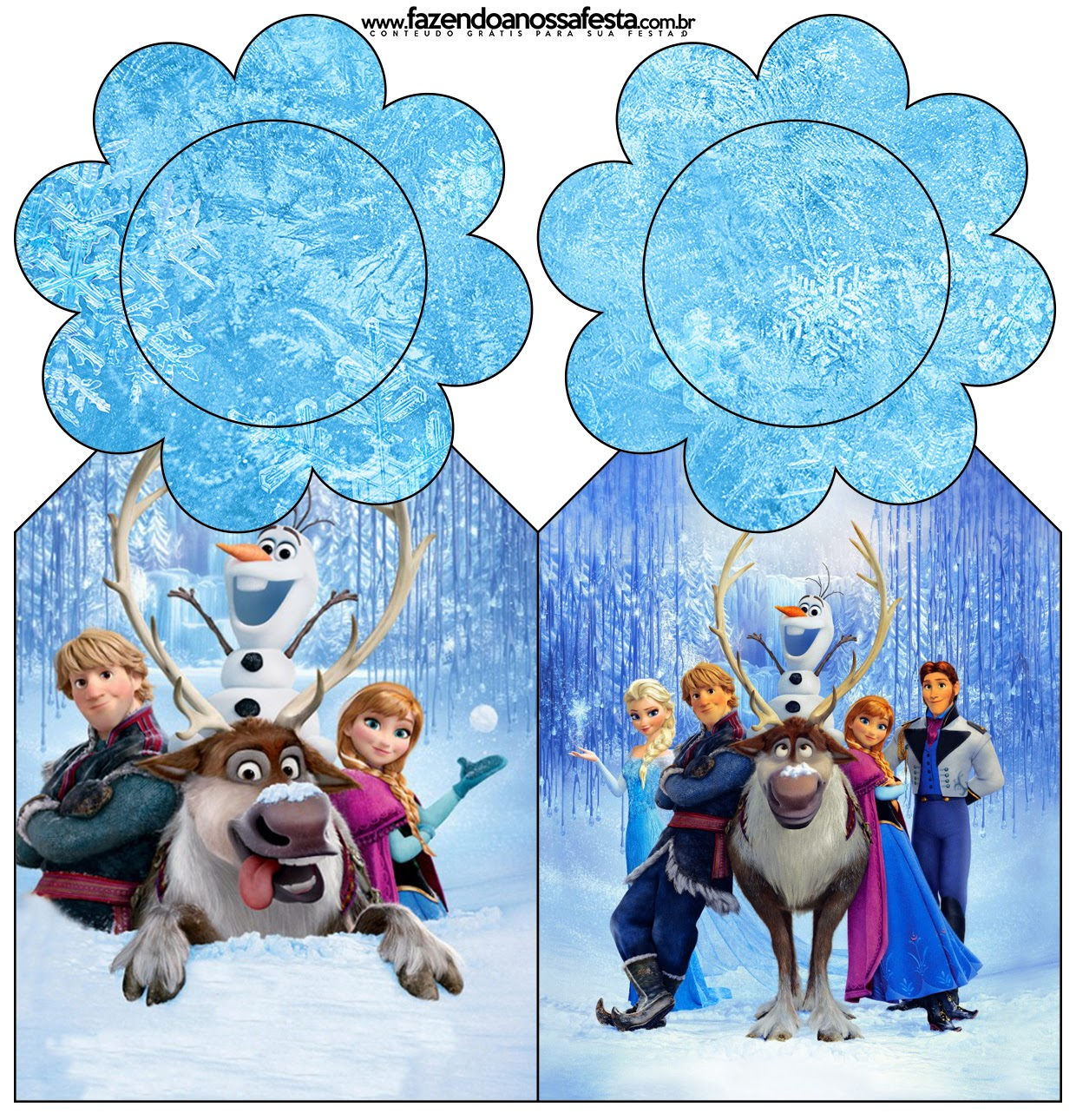 Frozen Cute Free Party Printables