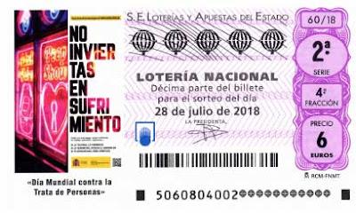 Detalle de todos los premios de la  loteria nacional sabado 28 julio 2018