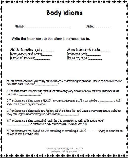 All Worksheets  Idioms Worksheets - Printable Worksheets ...