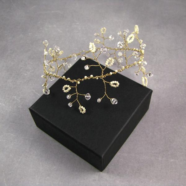 Gałązka ślubna Airy z kryształami Swarovski.
