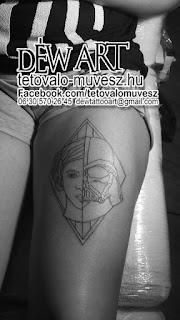 Star Wars tetoválás minta , csajos, készítette Nagyváti Dávid déw Art szegedi tetoválómüvész.