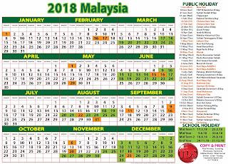 2018 calendar malaysia school