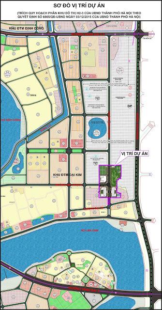 Sơ đồ vị trí chung cư ECO LAKE VIEW Hoàng Mai