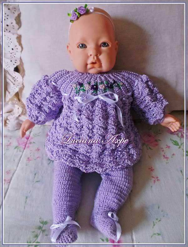 conjuntinho de crochê para bebês
