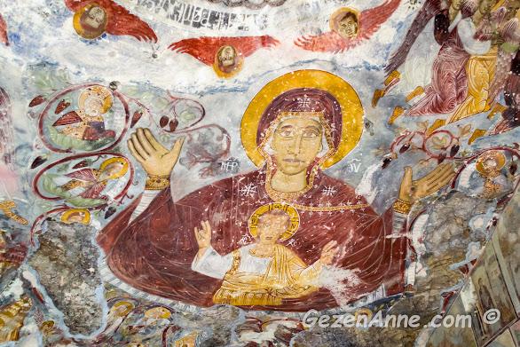 Sümela, Meryem Ana manastırının simge fresklerinden, Maçka Trabzon