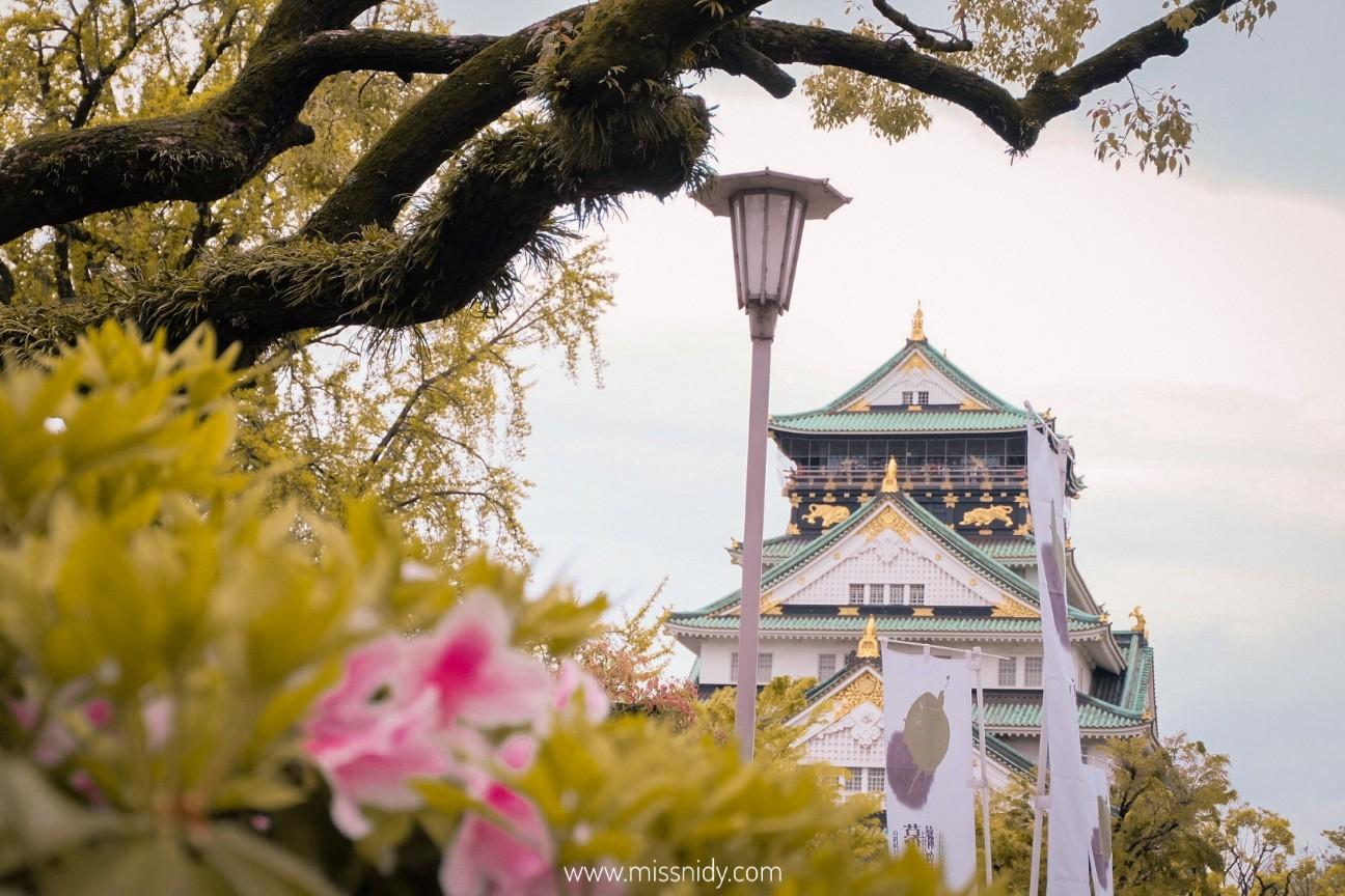 pengalaman ke osaka castle jepang