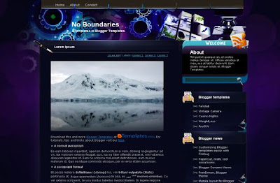 Template for blogger keren download.