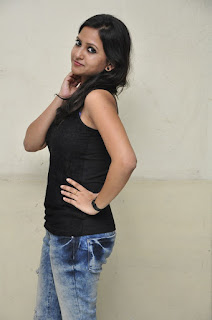 Actress Pavithra Latest Pictures in Reppied Jeans 0020