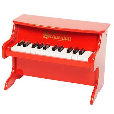 Schoenhut mini red piano