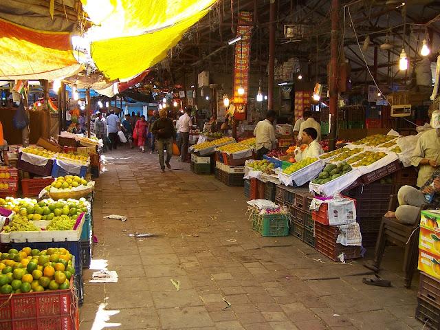 Crawford Market à Bombay rayon fruits et légumes