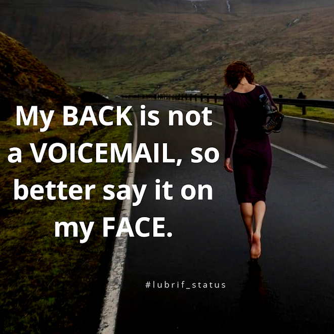 My back is not a voicemail....view cute attitude status on image