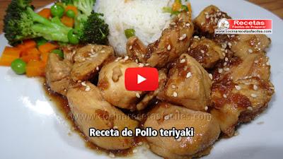 Pollo teriyaki   Una receta de comida japonesa riquísima y sencilla de preparar explicada paso a paso , para que  sea fácil hacerla.