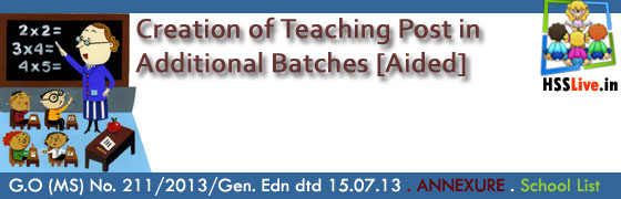 Higher Secondary Additional Batch