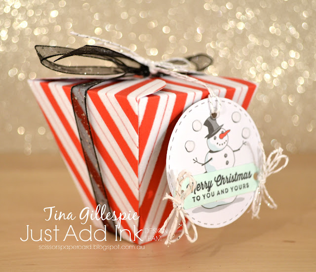 scissorspapercard, Stampin' Up!, Just Add Ink, Santa's Workshop SDSP, Tags & Tidings Bundle, Petal Cone Big Die, SSS Double Stitched Circles