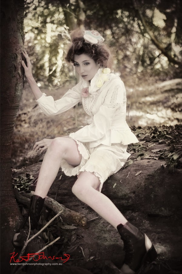 A finished fashion shot from Alice's Dreamtime. By Kent Johnson.