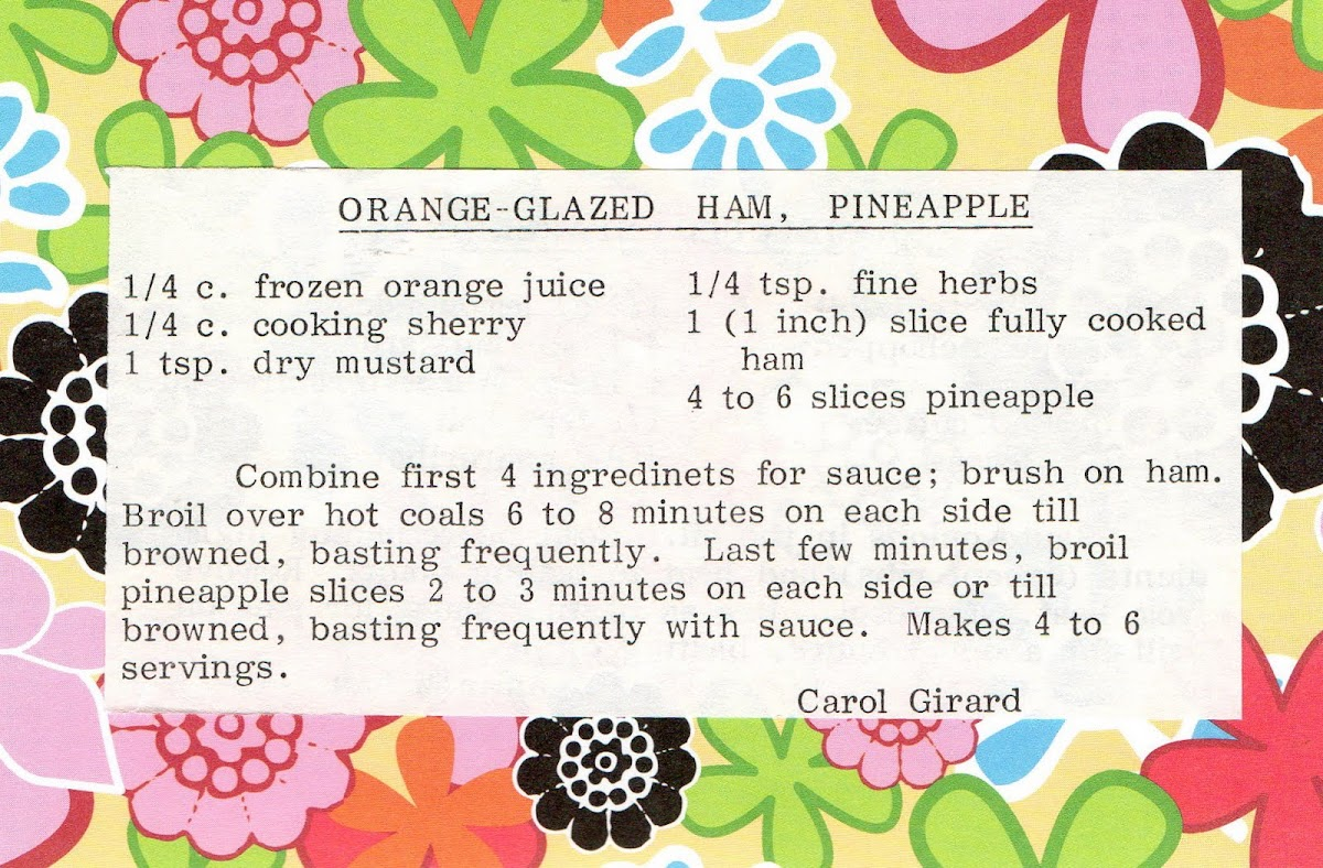 Orange-Glazed Ham, Pineapple (recipe)