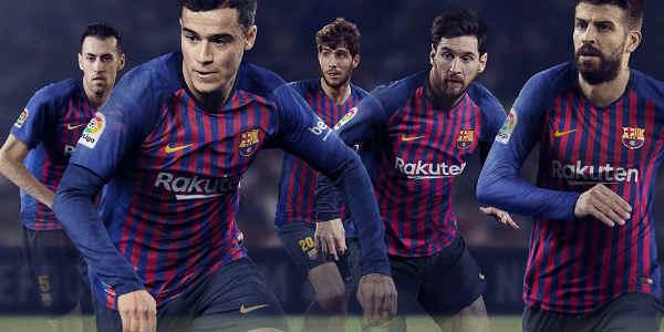 e0ded8e7a FC Barcelona 2018 19 Kit - Dream League Soccer 2019 - Gamer Ghar