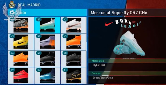 PES 2018 BootPack Nike Mercurial Superfly CR7