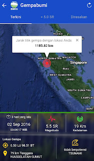 Getaran gempa dirasakan hingga lokasi sekitar yakni Bali 5 Aplikasi Pendeteksi Gempa Untuk Smartphone