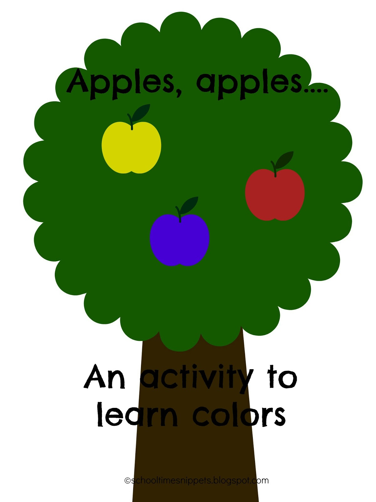 Apple Color Chant and Free Printable for Toddler and Preschoolers ...
