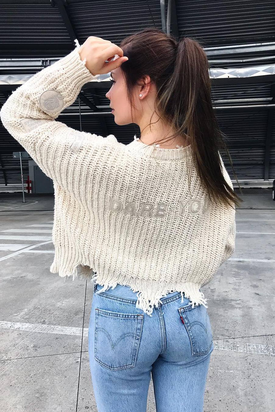 ootd | knit sweater and jeans