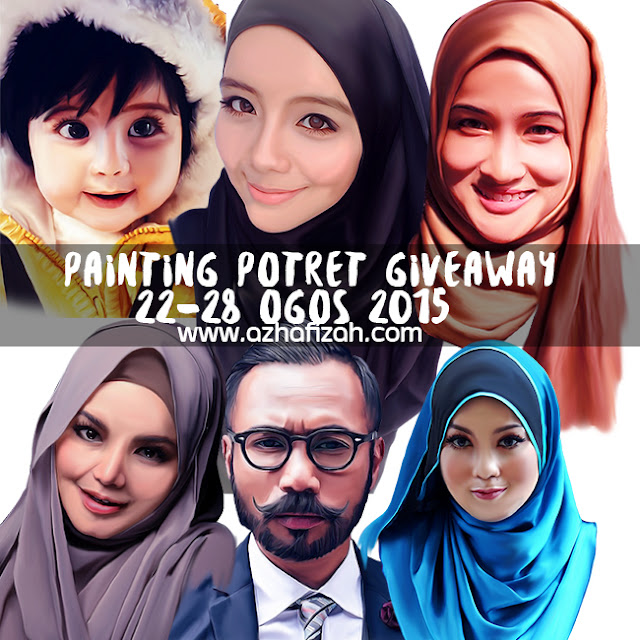 Painting Potret Giveaway By Azhafizah