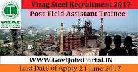 Vizag Steel Recruitment 2017– 736 Junior Trainee & Field Assistant Trainee