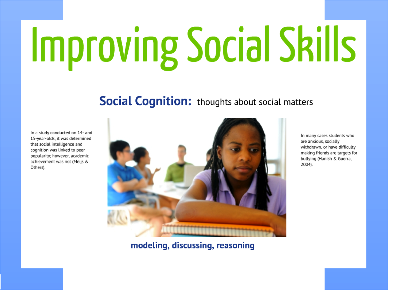Developmental Standards Project Improving Social Skills