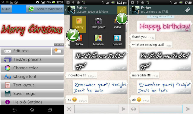 Cara Membuat Tulisan Berwarna di Whatsapp dengan Text Art