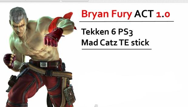 Tekken Game All Players Secret Moves Tekken 6 Bryan Fury Combo Exhibition