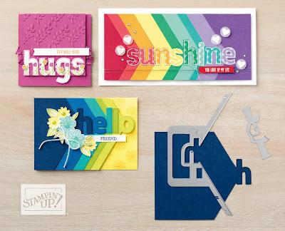 Stampin' Up! New Catalog Sneak Peek: Lined Alphabet stamp set + Layering Alphabet Edgelits
