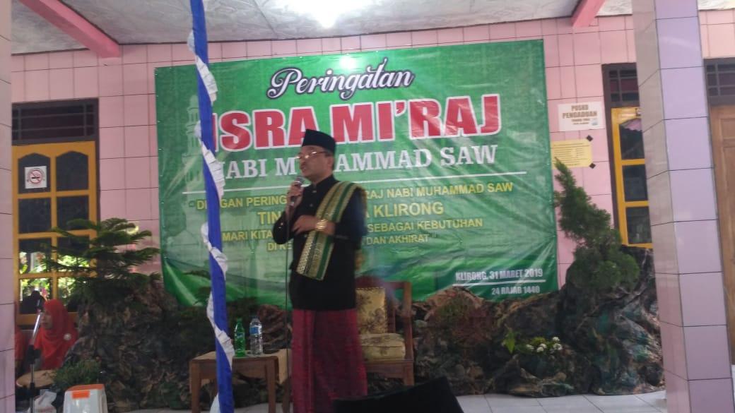 Peringatan Isra' Mi'raj Nabi Muhammad SAW 1440 H Desa Klirong