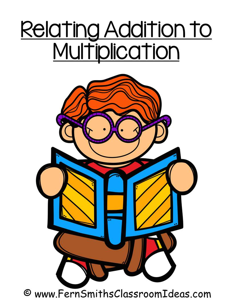 Relating Addition to Multiplication - Quick and Easy Center and Printables with a Cupcake Theme and No Common Core Listing