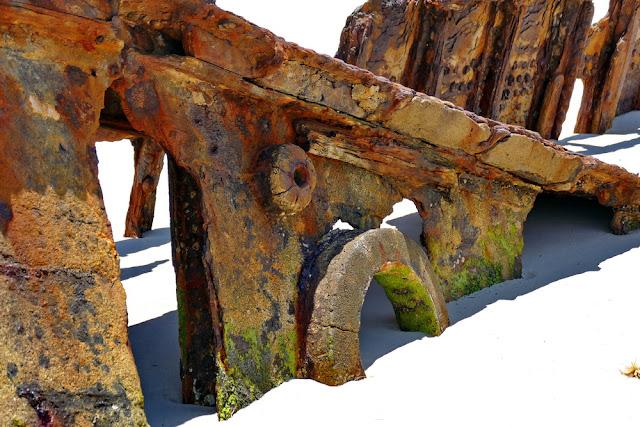 Bulwer Wrecks Schiffs-Wrack Moreton Island Bullauge Wrack Holz Rost
