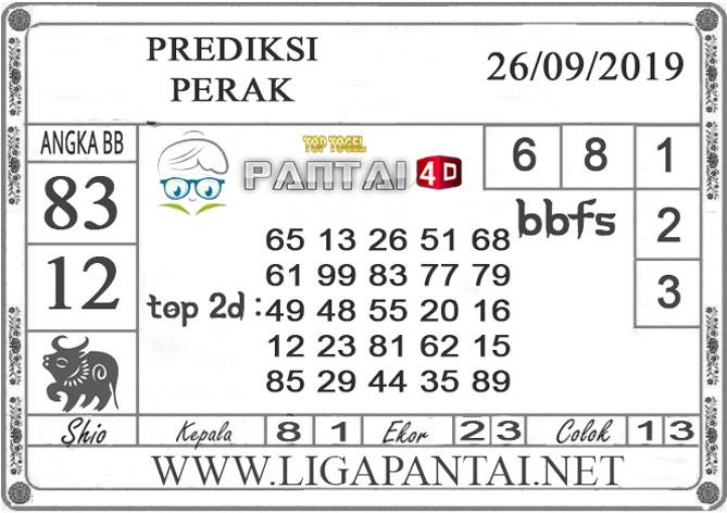 """PREDIKSI TOGEL """"PERAK"""" PANTAI4D 26 SEPTEMBER 2019"""