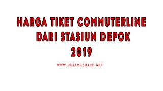 Harga Tiket Commuterline Dari Stasiun Depok Terbaru 2019