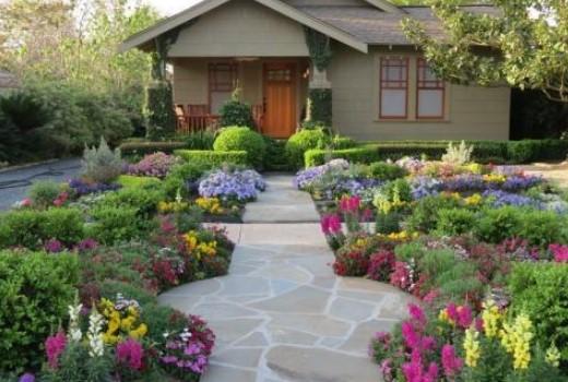 taman dengan bunga