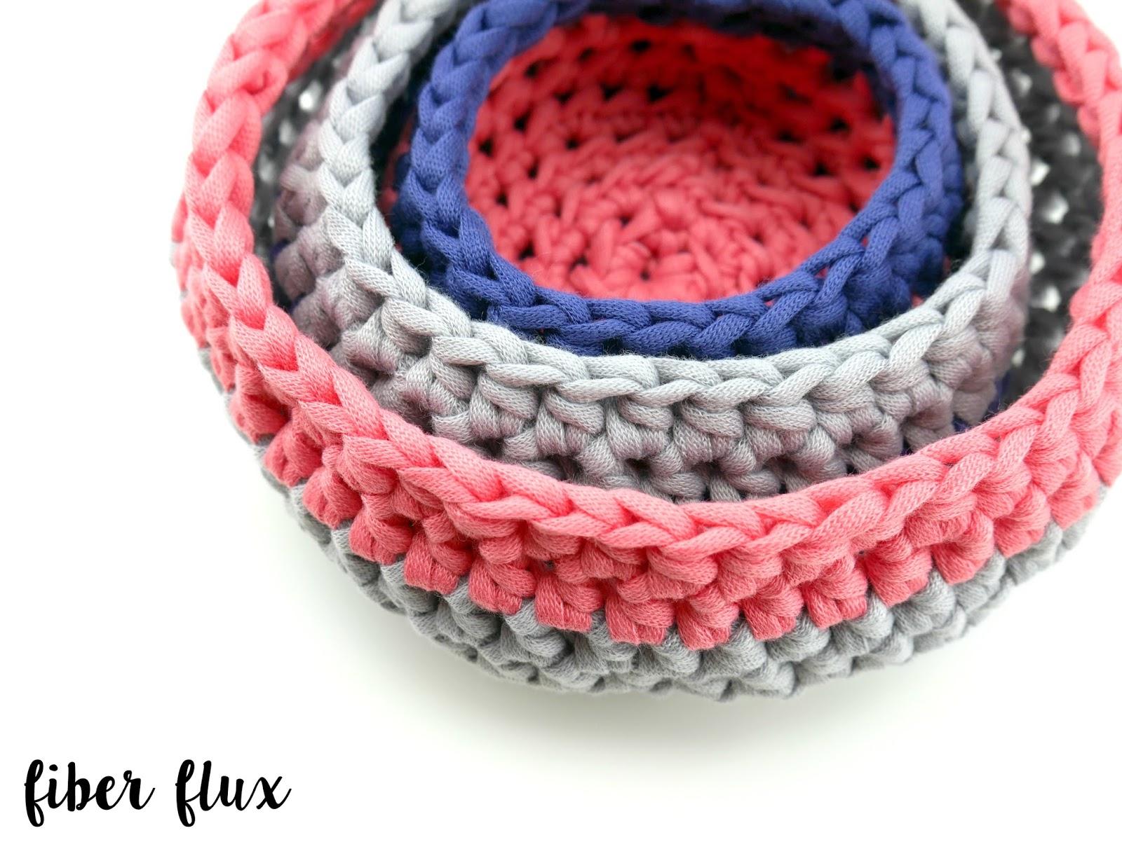 Fiber Flux: Free Crochet Pattern...Modern Nesting Baskets!