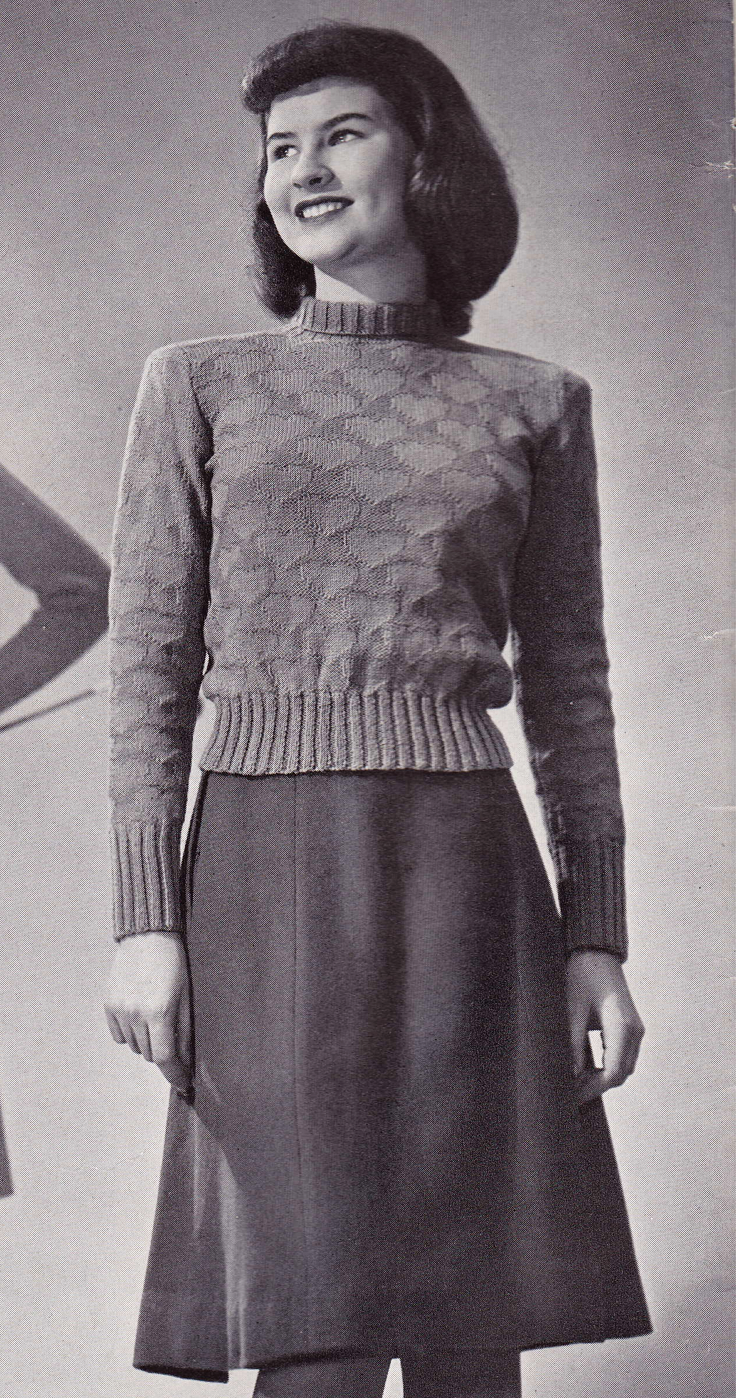 Free Vintage Knitting Pattern: 1940s Valentine\'s Day Pullover ~ This ...