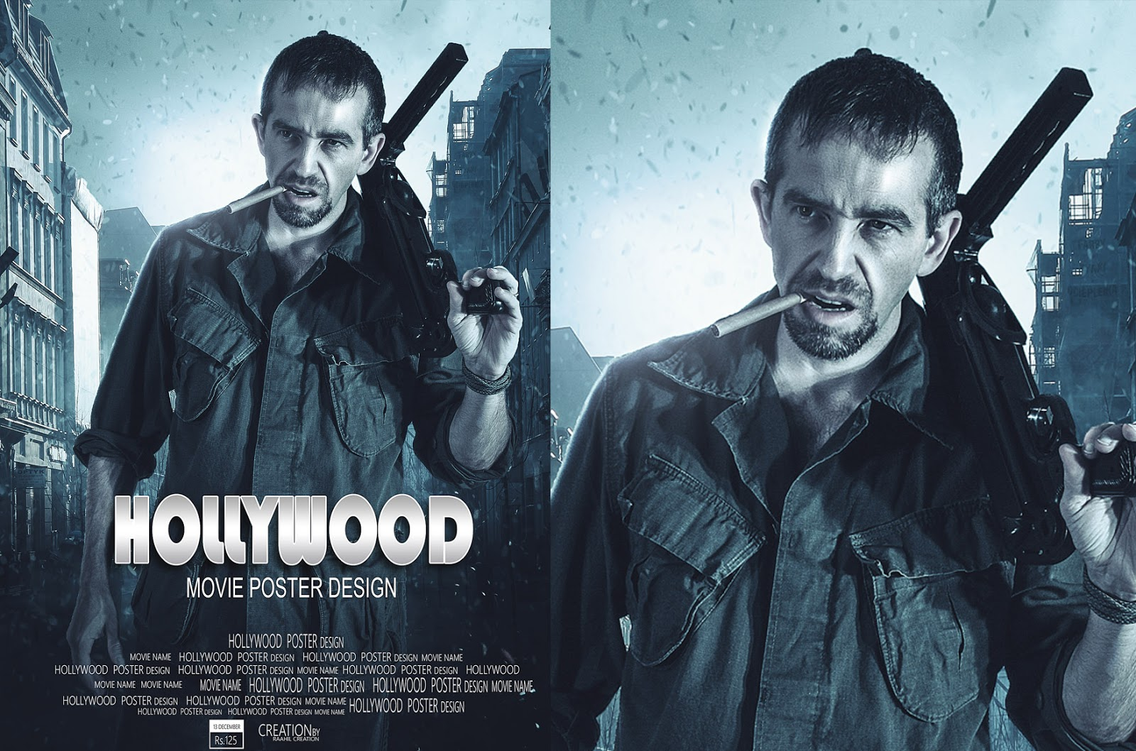 Hollywood Movie Poster Design - Photoshop Tutorial - Raahil