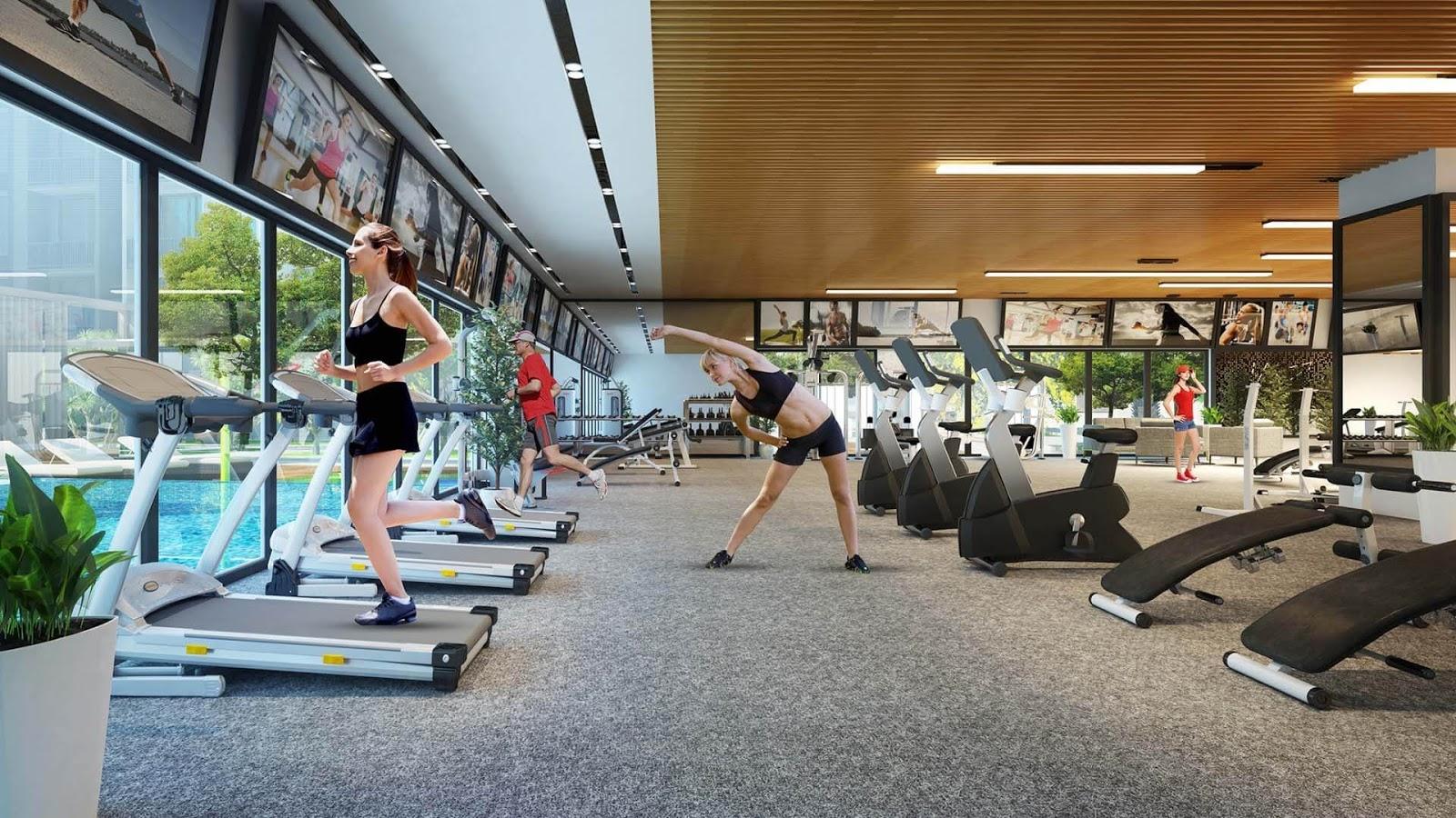 Phòng tập gym cao cấp.