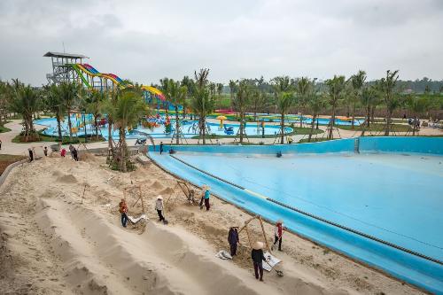 Hình ảnh bãi biển nhân tạo nghìn tỷ ở Hà Nội